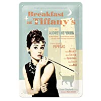Nostalgic Art Breakfast At Tiffany's Blue Kabartmalı Metal Duvar Panosu