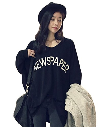 Minetom Donna Maglione Maniche Lunghe Pullover Camicetta Sweatshirt Autumn Blouse Tunic Top One color