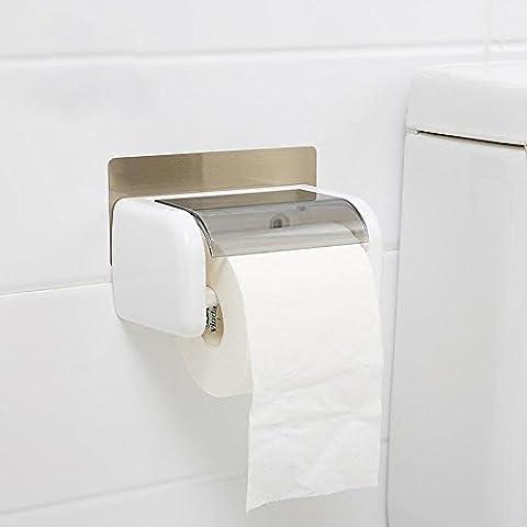 SBWYLT-Semplice facile da attaccare una scatola di fazzoletti nessuna traccia di titolare di carta di post impermeabile vassoio di carta igienica da un pugno rotoli di carta