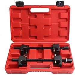 CCLIFE Kit Compresseur Ressort Amortisseur pour Voiture Griffes 300mm