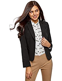 oodji Collection Damen Taillierter Blazer Basic
