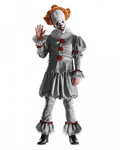 Pennywise ES Deluxe Kostüm als original Horrorclown Verkleidung aus dem Kultflim XL (Horrorclown Kostüme)