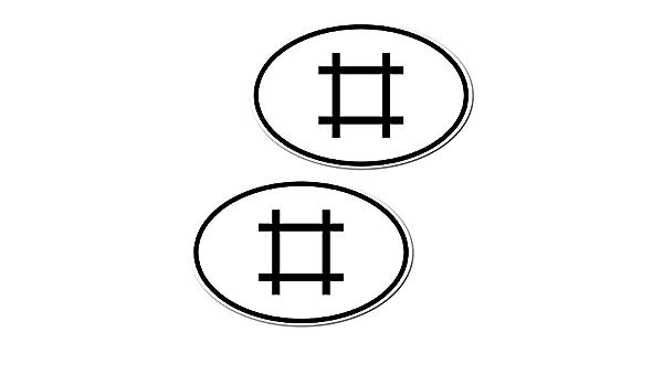 Greenit 1 Set 2 Stück 14 5cm D Symbol Raute Länderkennzeichen Aufkleber Car Bumper Sticker Auto Heck Deko Depeche Mode Auto