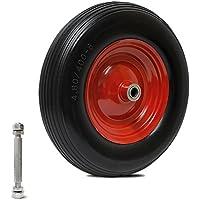 Forever Speed 4.00-8 PU Carretilla de rueda a prueba de perforaciones de la rueda del camión de la mano del caucho de sólida Max.200kg