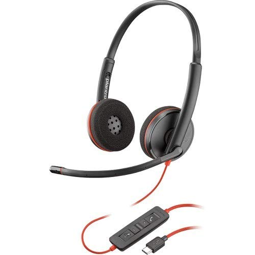 Plantronics Blackwire C3220 Headset (Stereo, USB Typ C, verkabelt, 20 Hz, 20 kHz, Over-The-Head, Ohrhörer, Rauschunterdrückung) Schwarz Plantronics Mobile Headset