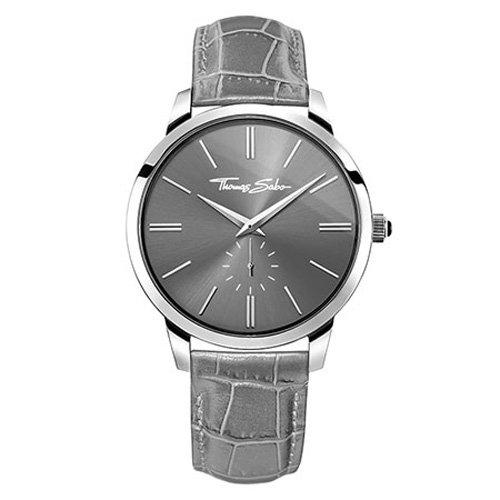 Thomas Sabo Hombre Reloj de pulsera Rebel at Heart–Eternal Grey analógico de cuarzo piel wa0261–273–210–42mm