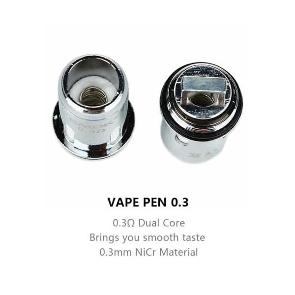 SMOK Vape Pen 22 Core Coil Heads 0.3 Ohm for Vape Pen 22 Kit and Vape Pen 22 Tank, 5 Pcs 2