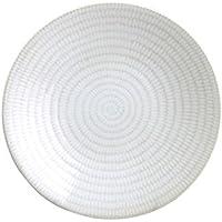 Avet Spain Rice Juego de Platos de Postre, Gres, Blanco, 20.5 cm, 6 Unidades