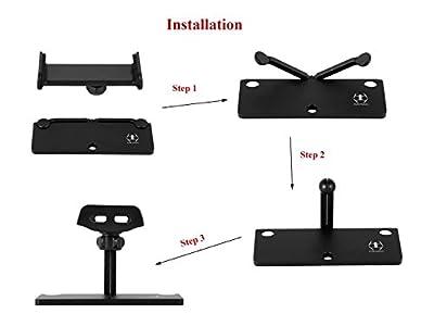 "Rantow Aluminum-Alloy Foldable Smartphone Tablet Mount Holder for DJI Mavic Pro/Mavic Air/Spark / Mavic 2 Pro/Mavic 2 Zoom Drone Snap On/Off 4""-12"" Smartphone Tablet Bracket Holder"