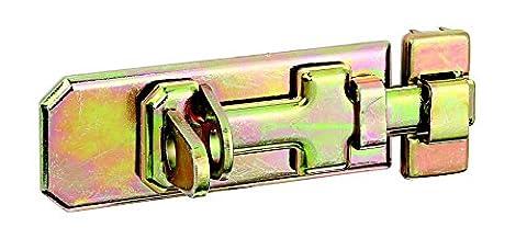 GAH-Alberts Verrou de box ou targette pêne plat avec gâche fixe 100 x 40 mm Surface galvanisée à chaud