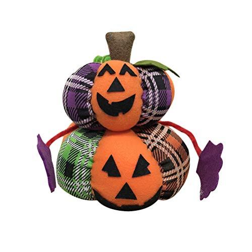 Bestoyard decorazione bambola di zucca di halloween tavolo scrivania divano divano letto farcito giocattolo regali di halloween (due zucche)