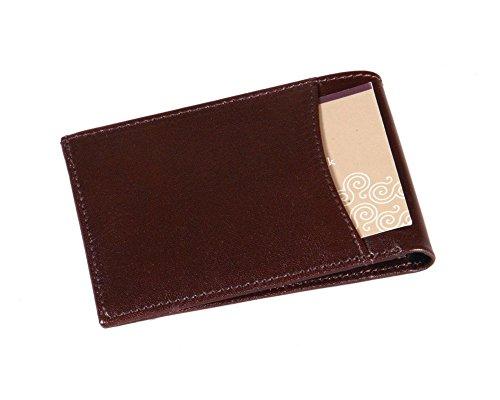 SAGEBROWN Brown Travel Card Billfold Wallet