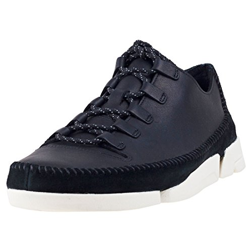 Clarks Originals Mens Trigenicflex 2 Leather Trainers Noir