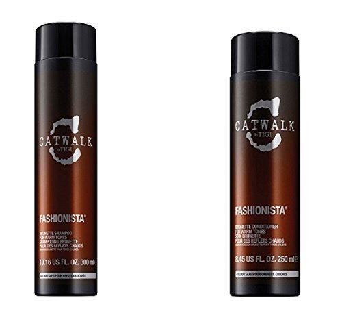 Tigi Catwalk Fashionista Brunette Set (Shampoo 300ml + Conditioner 250ml)