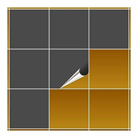FoLIESEN Carrelage Adhésif pour cuisine et salle de bain–Gris foncé mat 20x 20cm–Lot de 20