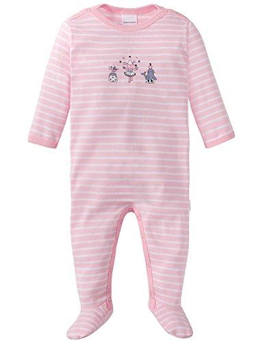Schiesser Baby-Mädchen Zweiteiliger Schlafanzug Zirkus Zampano Anzug mit Fuß, Rot (Rosé 506), 86 (Herstellergröße: 086)