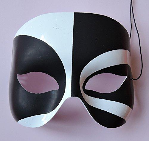 """Magische Maske """"Voodoo"""" in schwarz-weiß - Halloween"""