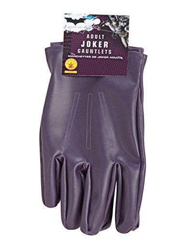 Batman-The Dark Knight, Joker Stulpenhandschuhe Erwachsene (Heath Ledger Joker Outfit)