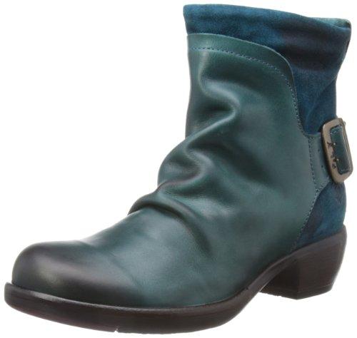 FLY London Mel P141633, Damen Biker Boots, Blau (Petrol 007), 40 EU (7 UK)
