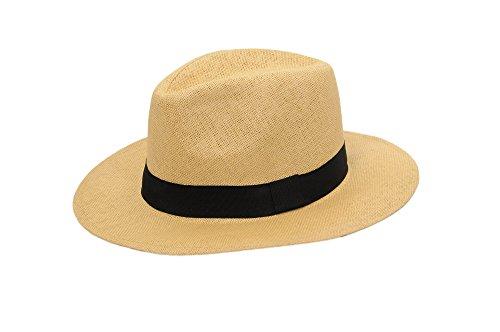 ahut Herren Damen Partyhut Stroh Hut H51018 (Camel) (Stroh-hüte Für Männer)