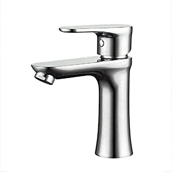 Amzh Brass Taps Single Handle Single Hole Hot & Cold Wash Basin Full Copper Bathroom Basin Faucet 0