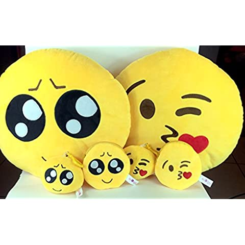 Emoji Cuscino Free portachiavi catena e morbido denaro Portafoglio Portamonete Smiley Fake Poop Throw cuscino emoticon Cute a forma di peluche Love Giallo Rotondo Marrone Set Regalo Grande giocattolo divertente Merchandise – Accessori tutto per bambini prime (Poop) Cute & Kisses