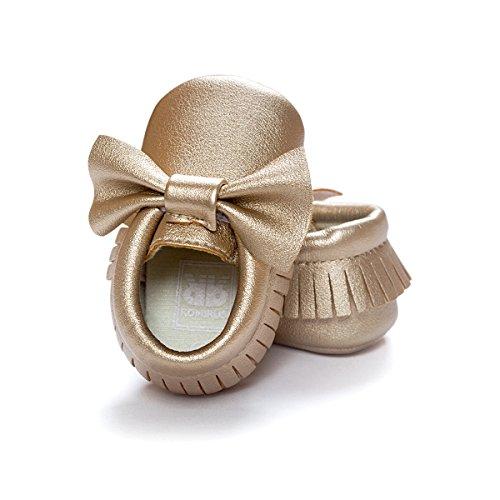 Nicetage Süß Mädchen Schuhe Laufternshuhe Krabbelschuhe für 0-18 Monate Baby Neugeborenen Schuhe Gold