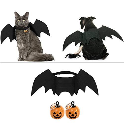outgeek Halloween Haustier Kostüm Fledermausflügel Cosplay Hundekostüm Katze Kostüm für (Kostüm Haustier)