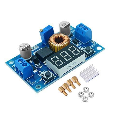HoganeyVan DC-DC Step Down Converter 5-36V to 1.25-32V 5A Buck Voltage Regulator With Digital LED Display Voltage Converter -