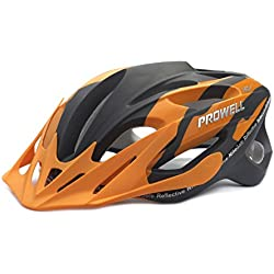 Prowell F59R Vipor - Casco de ciclismo naranja negro Edge Talla: M (55cm-61cm)