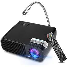 Proyector Inteligente WIFI Android 4.4, Yokkao® Smart Videoproyector LED HD con 2600 lúmenes con Memoria de 8GB y Mando a Distancia, Compatible con Laptop/ Notebook/ Desktop y Tablets