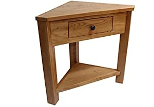 Oak Corner Unit Console Telephone Lamp Table Hallway Plant Stand Hall Furniture New
