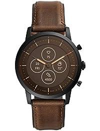 Fossil Collider Hybrid Hr Smartwatch Analog-Digital Black Dial Men's Watch-FTW7008