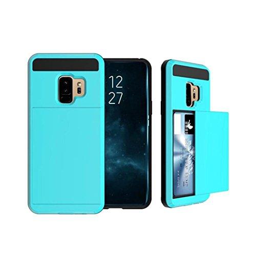 MuSheng For Samsung Galaxy S9 Plus Hülle,Ultra Thin Luxus Hard Clear PC & Flexible TPU Hybrid Rüstung Fall Hülle für Samsung Galaxy S9 Plus 6,2 Zoll (Himmelblau) -