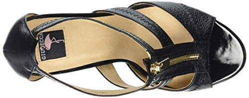 Giudecca Jycx15sb9-1, sandales ouvertes femme Noir (Black)