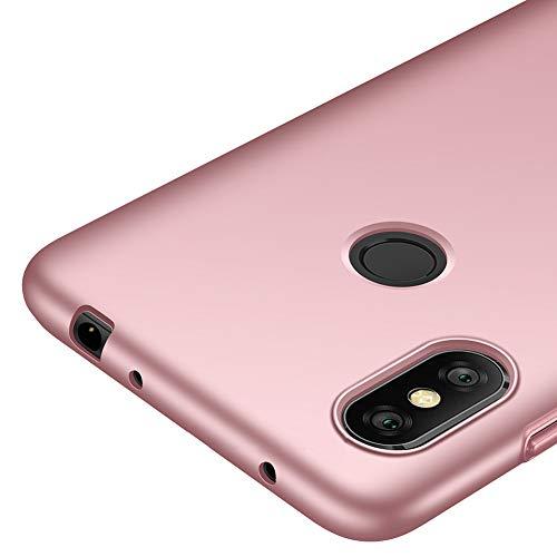 """Richgle Funda Xiaomi Redmi Note 6 Pro (6.26""""), Oro Rosa Ultra Slim Protectora Funda Case Plástico Duro Cover para Xiaomi Redmi Note 6 Pro (6.26"""") RG00225"""