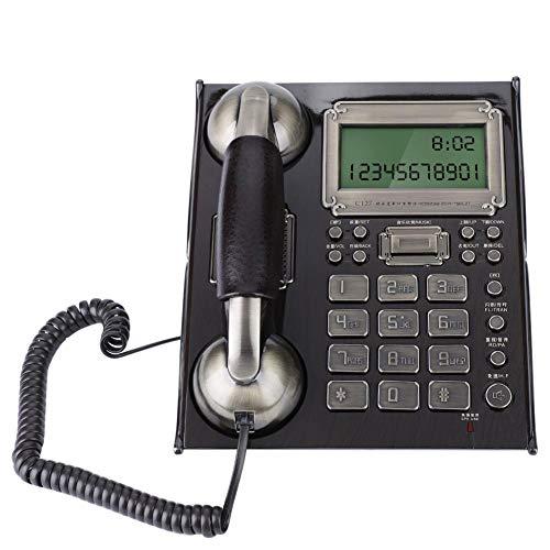 Vbestlife Teléfono Fijo Retro Protección contra