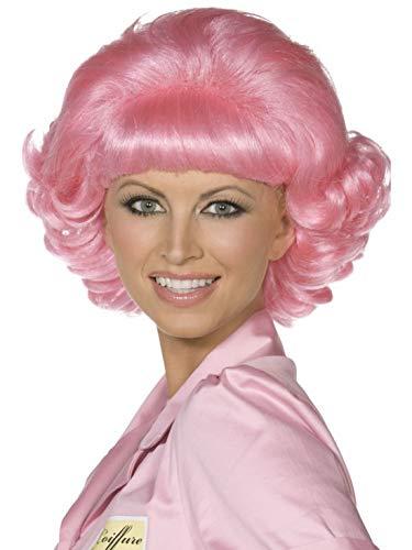 Halloweenia - Kostüm Accessoires Zubehör Damen Kurzhaar Perücke Grease Frenchy im 60er Jahre Diner Stil, perfekt für Karneval, Fasching und Fastnacht, (60's Diner Kostüm)