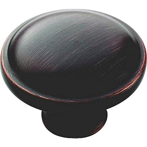 AMEROCK bp53015-orb Allison Bronce aceitado botón redondo Armario Hardware pomo 1–1/4de pulgada de diámetro
