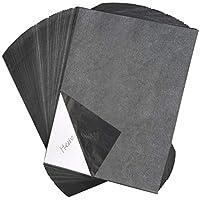 YOTINO 100 Hojas Papel Transferde GrafitoTrazado Carbón Papel de Calco Copia A4 Carbono Transferencia para Madera Lienzo Papel Madera Pluma Reemplazable con 5 Piezas