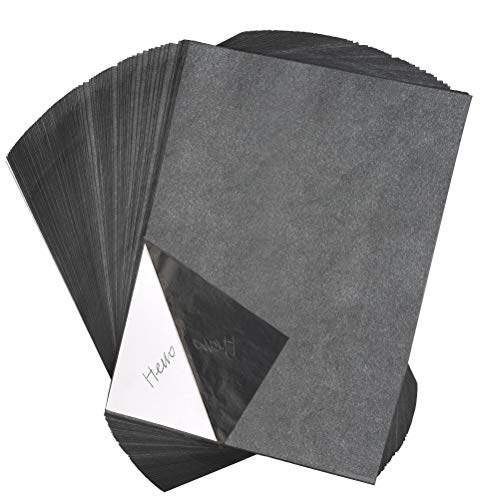 YOTINO 100 Blatt Kohlepapier A4 Carbon Papier Graphitpapier für Holz, Papier, Segeltuch usw. + Prägestift mit 5 auswechselbaren Spitzen