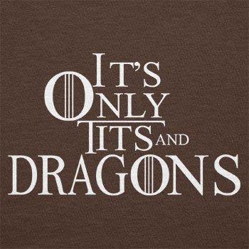 Texlab–Tits and Dragons–sacchetto di stoffa Marrone