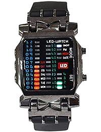 Reloj de pulsera - SODIAL(R)Unisex binario LED reloj Digital muestra de fecha
