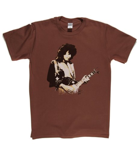 Jimmy Page Live English Hard Rock T-shirt Braun