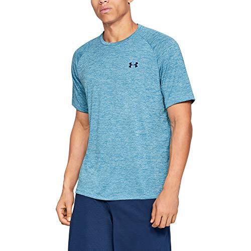 Under Armour Herren UA Tech 2.0 SS Tee' Kurzarmshirt, Blau (Ether Blue  (452), S - Blau Tennis Shirt