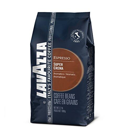 Lavazza Caffè Espresso Super Crema, Caffè in Grani,8 Confezioni, 8 x 1000g