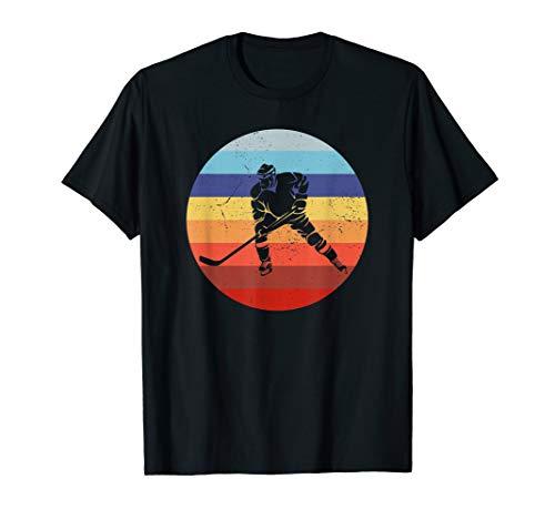 Eishockey Spieler Vintage Ice Hockey Retro Hockey Sun T-Shirt -