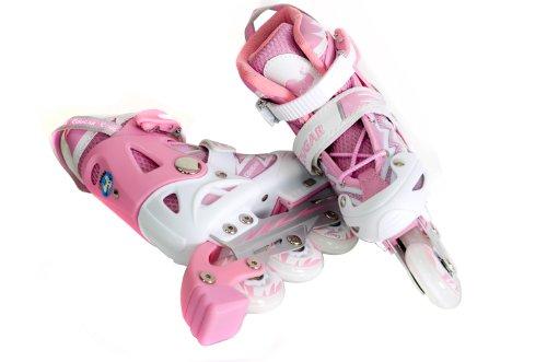 FA Sports Pattini in linea Gears, Rosa (rosa, weiß), L
