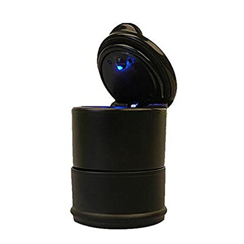 Car Ashtrays with Blue LED Light,Bestcatgift Portable Car Truck Auto Office Cigarette Ashtray Holder Cup, Car Smokeless Ashtray -
