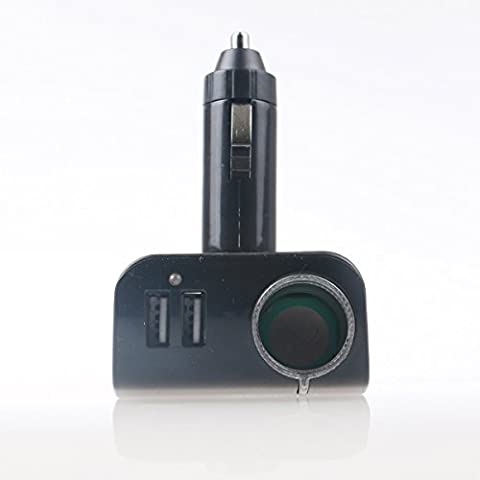 Encendedor De Cigarrillos Adaptador de cargador de coche DC 12V/24V divisor con puertos de carga USB de 2zócalos conmdex (3.1A Max) para iPhone 6S/6/6Plus, iPad, Samsung Galaxy, Nota, Tablet y más